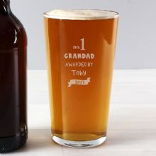 Personalised no.1 Awarded By Pint Glass P0107D80